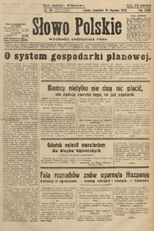 Słowo Polskie. 1932, nr20
