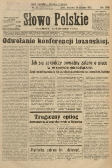 Słowo Polskie. 1932, nr23