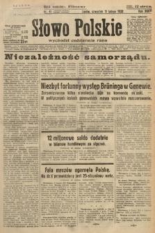 Słowo Polskie. 1932, nr41