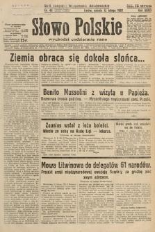 Słowo Polskie. 1932, nr43