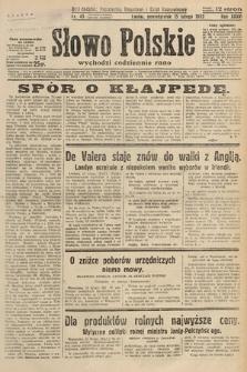 Słowo Polskie. 1932, nr45