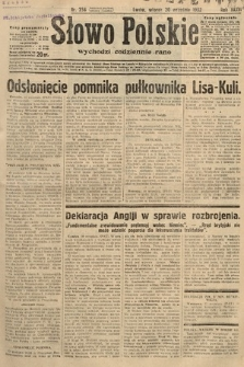 Słowo Polskie. 1932, nr258