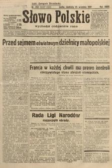 Słowo Polskie. 1932, nr263