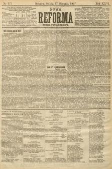 Nowa Reforma (numer popołudniowy). 1907, nr375