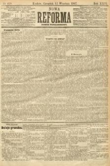 Nowa Reforma (numer popołudniowy). 1907, nr419