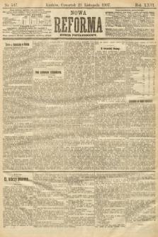 Nowa Reforma (numer popołudniowy). 1907, nr537