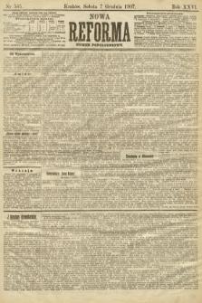 Nowa Reforma (numer popołudniowy). 1907, nr565