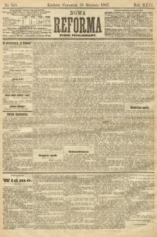 Nowa Reforma (numer popołudniowy). 1907, nr585
