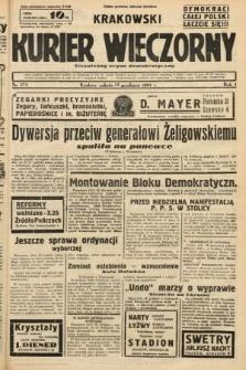 Krakowski Kurier Wieczorny : niezależny organ demokratyczny. 1937, nr272