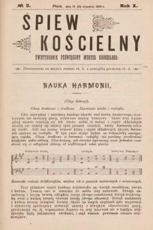 Śpiew Kościelny : dwutygodnik poświęcony muzyce kościelnej. 1905, nr2
