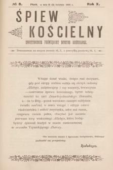 Śpiew Kościelny : dwutygodnik poświęcony muzyce kościelnej. 1905, nr8