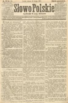 Słowo Polskie (wydanie popołudniowe). 1907, nr72