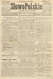 Słowo Polskie (wydanie poranne). 1907, nr73