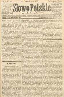 Słowo Polskie (wydanie popołudniowe). 1907, nr78