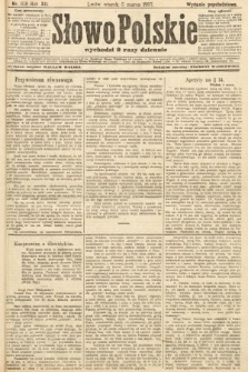 Słowo Polskie (wydanie popołudniowe). 1907, nr108