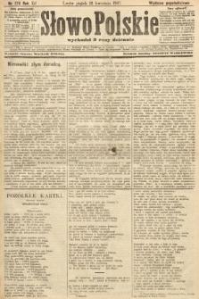 Słowo Polskie (wydanie popołudniowe). 1907, nr170
