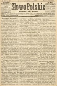 Słowo Polskie (wydanie popołudniowe). 1907, nr192