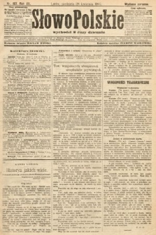 Słowo Polskie (wydanie poranne). 1907, nr197