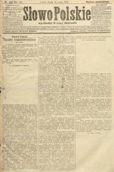 Słowo Polskie (wydanie popołudniowe). 1907, nr223