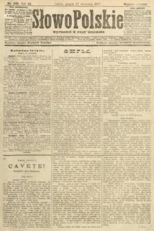 Słowo Polskie (wydanie poranne). 1907, nr449