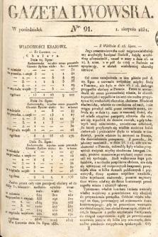 Gazeta Lwowska. 1831, nr 91
