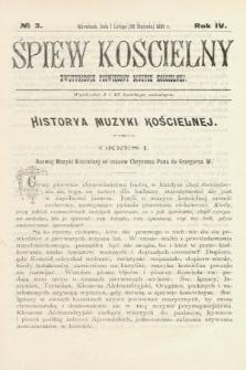 Śpiew Kościelny : dwutygodnik poświęcony muzyce kościelnej. 1899, nr3