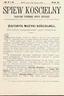 Śpiew Kościelny : czasopismo poświęcone muzyce kościelnej. 1900, nr5 i 6