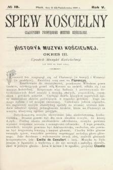 Śpiew Kościelny : czasopismo poświęcone muzyce kościelnej. 1900, nr10
