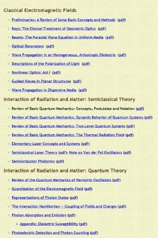 Optical Physics and Quantum Electronics