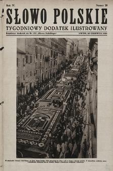 Słowo Polskie : tygodniowy dodatek ilustrowany. 1928, nr26