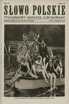 Słowo Polskie : tygodniowy dodatek ilustrowany. 1928, nr32