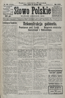 Słowo Polskie. 1928, nr176