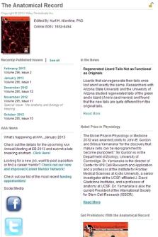 Anatomical record : advances in integrative anatomy & evolutionary biology