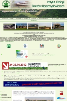 Instytut Ekologii Terenów Uprzemysłowionych
