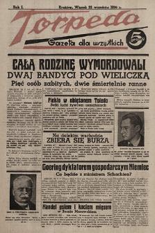 Torpeda : gazeta dla wszystkich. 1936.09.22