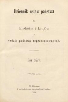 Dziennik Ustaw Państwa dla Królestw i Krajów w Radzie Państwa Reprezentowanych. 1877 [całość]