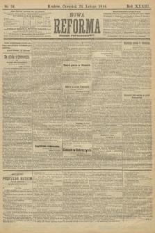 Nowa Reforma (wydanie popołudniowe). 1914, nr54