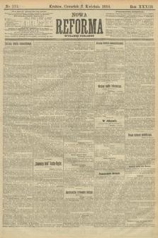 Nowa Reforma (wydanie poranne). 1914, nr111