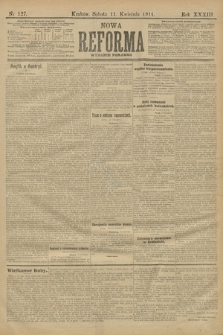 Nowa Reforma (wydanie poranne). 1914, nr127