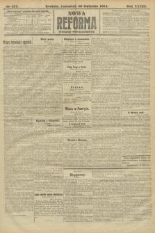 Nowa Reforma (wydanie popołudniowe). 1914, nr157