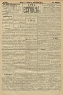 Nowa Reforma (wydanie popołudniowe). 1914, nr231