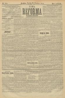 Nowa Reforma (wydanie poranne). 1914, nr234