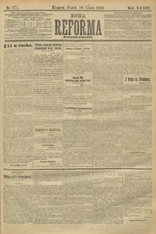Nowa Reforma (wydanie poranne). 1914, nr271