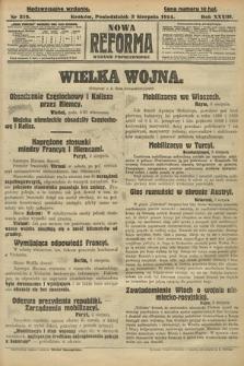 Nowa Reforma (wydanie popołudniowe). 1914, nr319