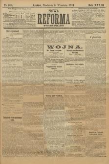 Nowa Reforma (wydanie poranne). 1914, nr387