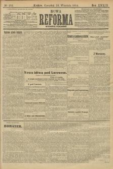 Nowa Reforma (wydanie poranne). 1914, nr393