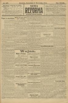 Nowa Reforma (wydanie popołudniowe). 1914, nr407