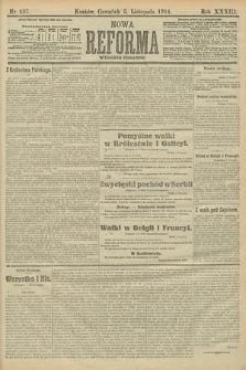 Nowa Reforma (wydanie poranne). 1914, nr497