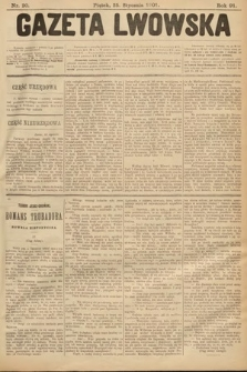 Gazeta Lwowska. 1901, nr20