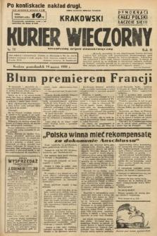 Krakowski Kurier Wieczorny : niezależny organ demokratyczny. 1938, nr72